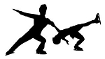 Figure Skating Pair Decal Sticker